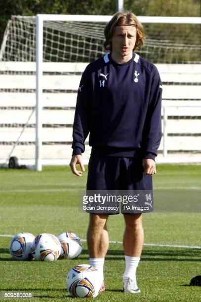 Tottenham's Luka Modric during a training session at Spurs Lodge London