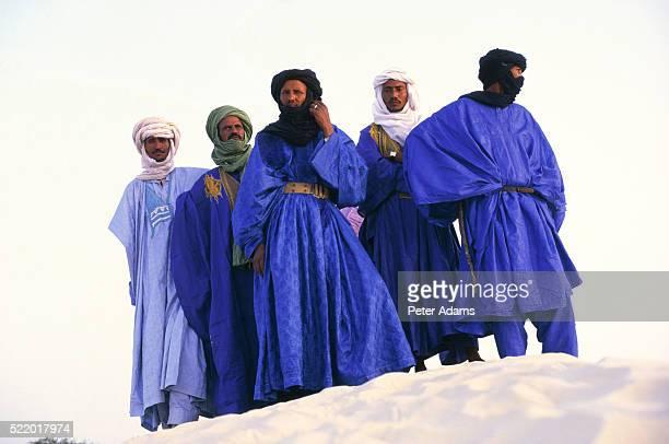 Touareg group on dune, Mali, Africa