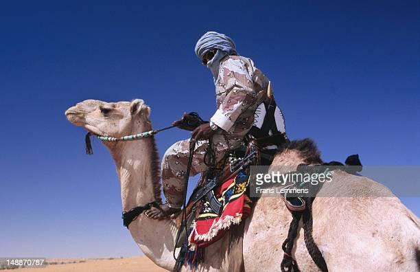 Touareg policeman on camel.