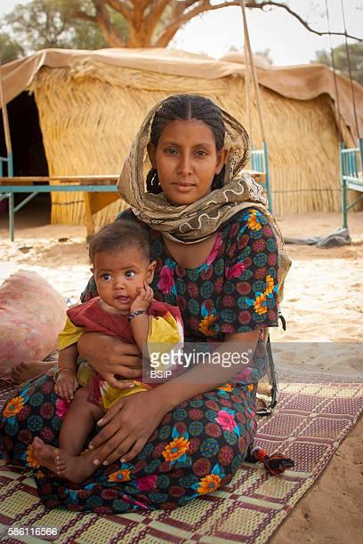 Touareg woman and child Niamey Niger
