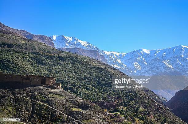 Toubkal Mountains Against Blue Sky