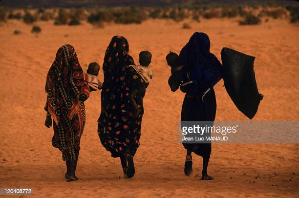 Toubou country in Niger - Young Toubou woman in a encampment.