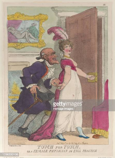 Touch for Touch or a Female Physician in Full Practice May 1 1811 Artist Thomas Rowlandson