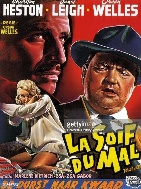 Touch of Evil is a 1958 American crime thriller film written directed by and costarring Orson Welles The screenplay was loosely based on the novel...
