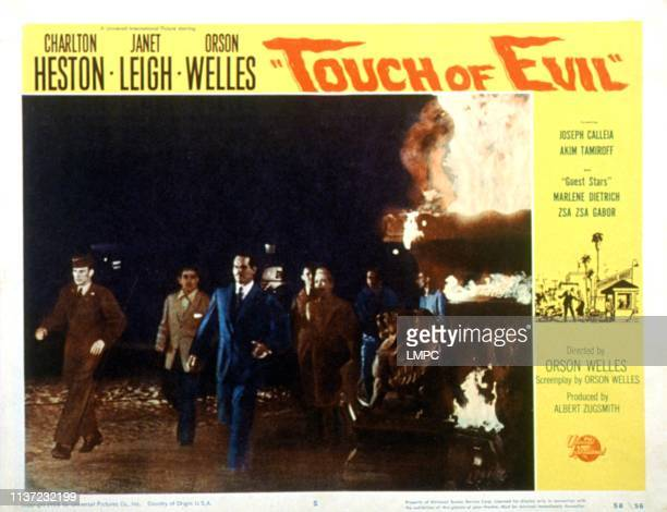 Touch Of Evil lobbycard Charlton Heston Janet Leigh 1958