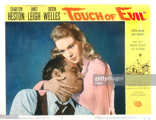 Touch Of Evil lobbycard Charlton Heston Janet Leigh 1958