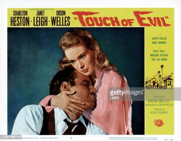 Touch Of Evil poster Charlton Heston Janet Leigh 1958