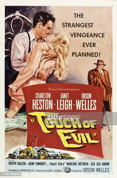 Touch Of Evil poster Charlton Heston Janet Leigh Orson Welles 1958