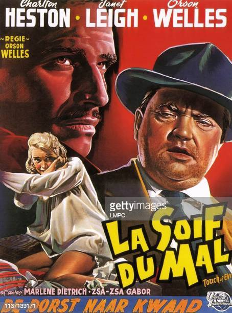 Touch Of Evil poster from left Janet Leigh Charlton Heston Orson Welles 1958
