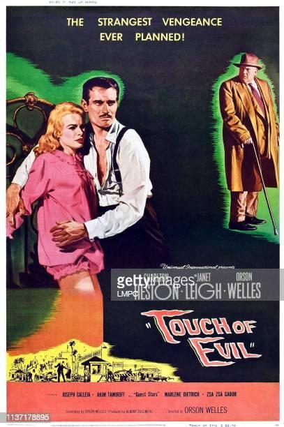 Janet Leigh Charlton Heston Orson Welles 1958