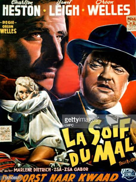 Touch Of Evil poster Janet Leigh Charlton Heston Orson Welles 1958