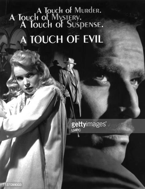 Touch Of Evil poster Janet Leigh Orson Welles Charlton Heston 1958
