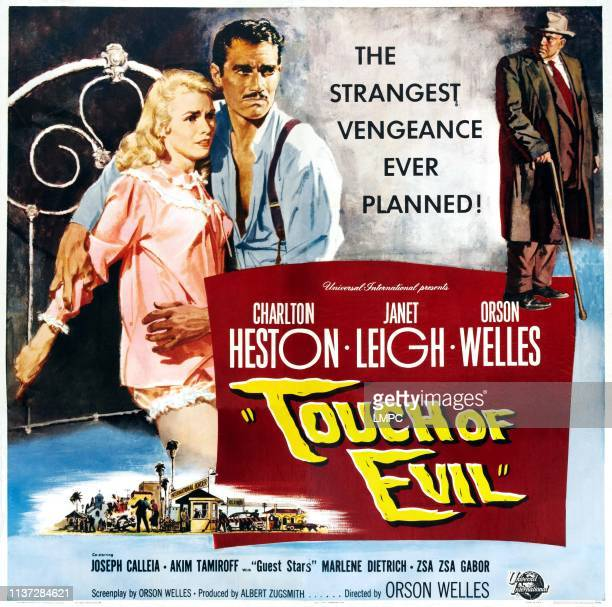 Touch Of Evil poster US poster art from left Janet Leigh Charlton Heston Orson Welles 1958