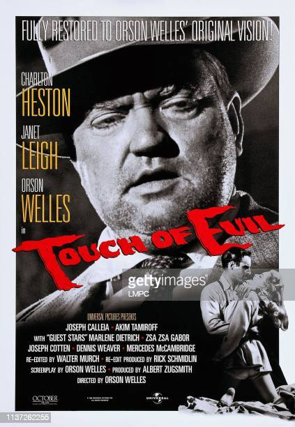 Touch Of Evil poster US poster art top Orson Welles bottom right Charlton Heston Janet Leigh 1958