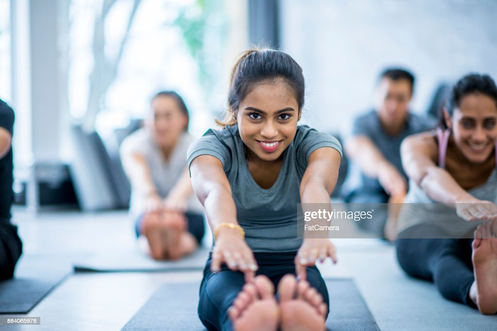 Touch Your Toes : Stock Photo