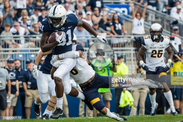 A touchdown by Cam SullivanBrown of the Penn State Nittany Lions is called back for an offensive penalty against the Kent State Golden Flashes during...
