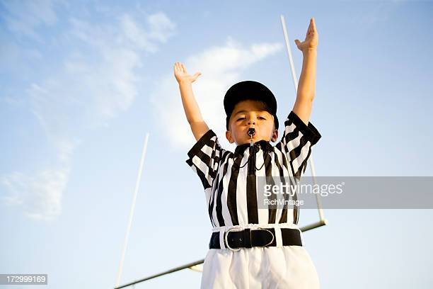touchdown! - american football referee stock pictures, royalty-free photos & images