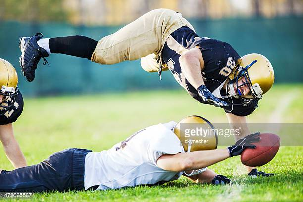 touchdown. - quarterback stock photos and pictures