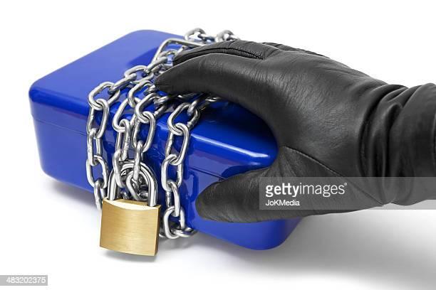 感動的なロックされた現金箱