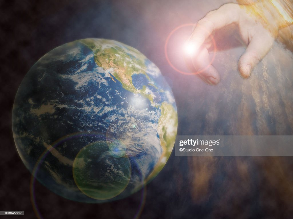 Touching Earth : Stock Photo