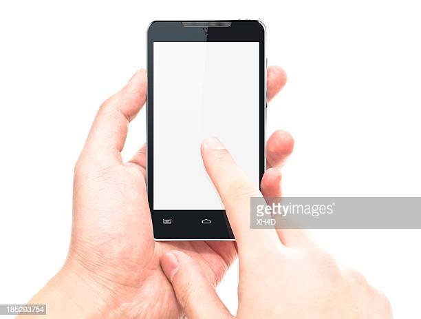 タッチスクリーンのスマートフォン