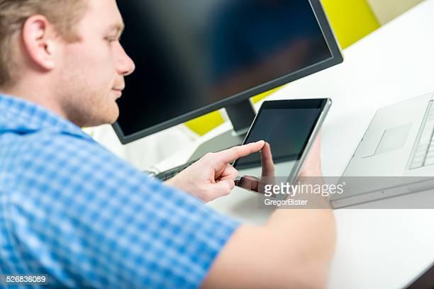 Berühren Bildschirm auf Tablet PC