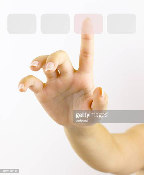 Touching virtual buttons