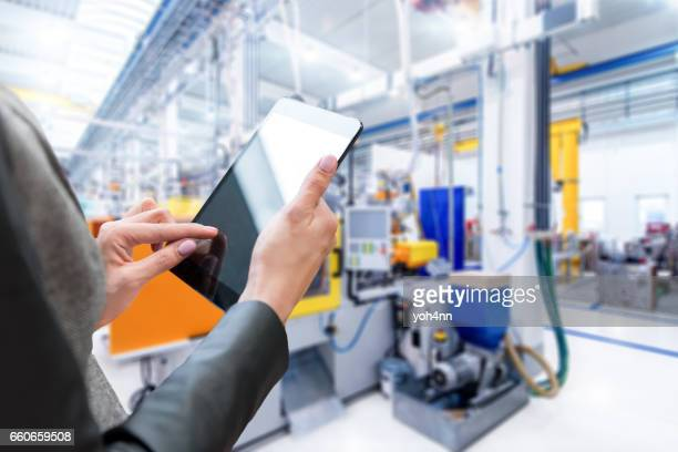 Touchpad & control in factory