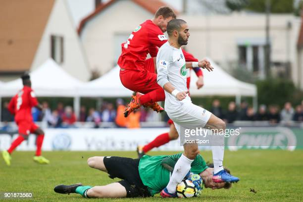 Toufik Bensaada of Houilles during the french National Cup match between Houilles and Concarneau on January 6 2018 in Houilles France