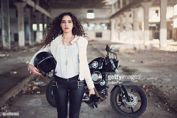 tough girl - crash helmet stock pictures, royalty-free photos & images