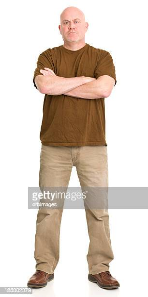 tough man standing portrait - white pants stock pictures, royalty-free photos & images