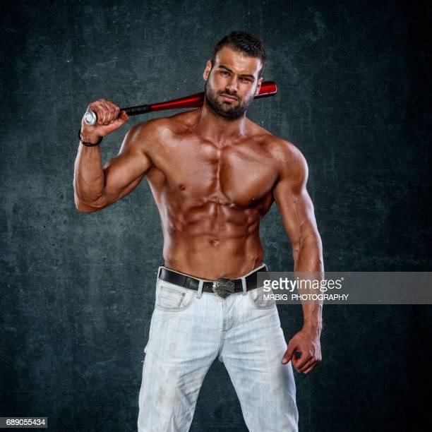 Tough Men with Baseball Bat