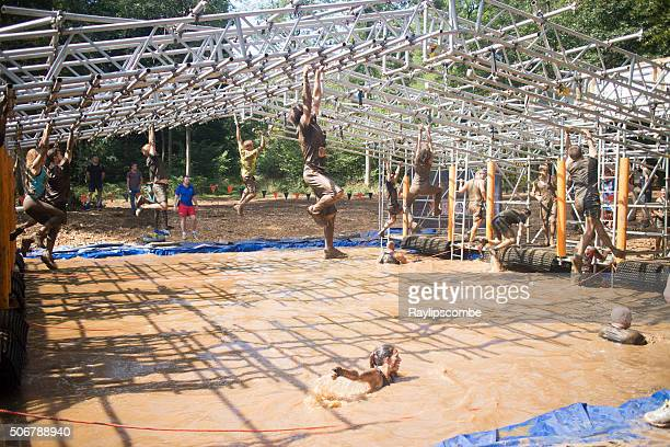 Tough Mudder competitors taking on the Monkey Bars