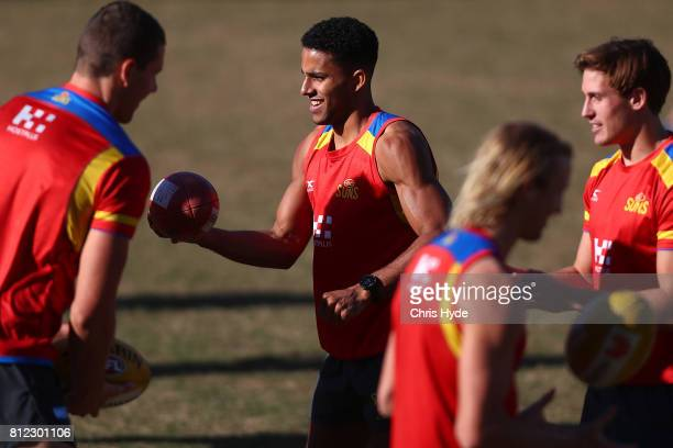 Touk Miller during a Gold Coast Suns AFL training session at Palm Beach Currumbin AFC on July 11 2017 in Gold Coast Australia