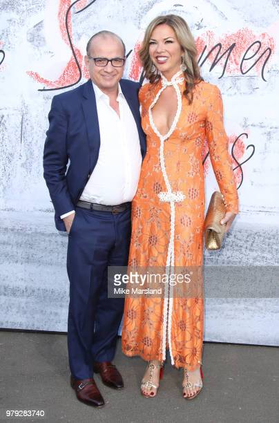 Touker Suleyman and Heather Kerzner attends The Serpentine Summer Party at The Serpentine Gallery on June 19 2018 in London England
