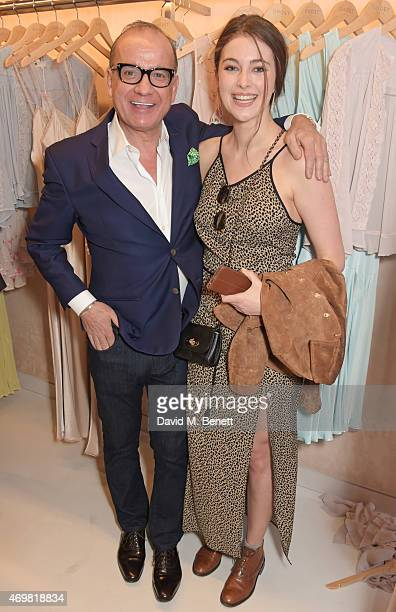 Touker Suleyman and Millie Brady attend the reinvention of Ghost on Kings Road hosted by Touker Suleyman on April 15 2015 in London England
