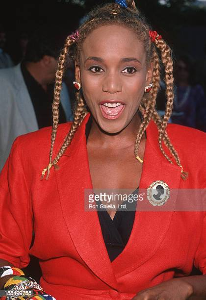 Toukie Smith attends Crystal Apple Presentation Awards on July 30 1990 at Gracie Mansion in New York City