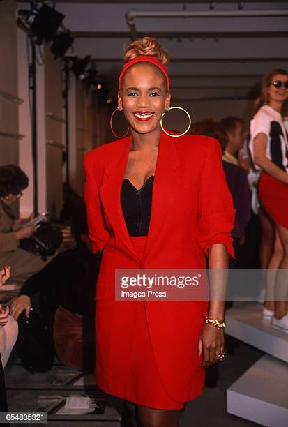 Toukie Smith attends the Donna Karan Spring 1991 runway show circa 1990 in New York City