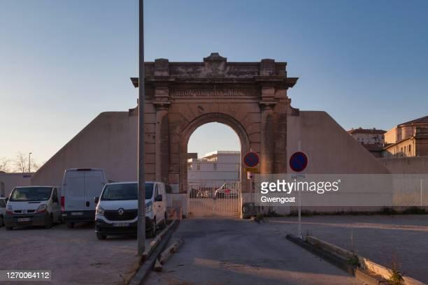 toulon departmental penitentiary - gwengoat stock pictures, royalty-free photos & images