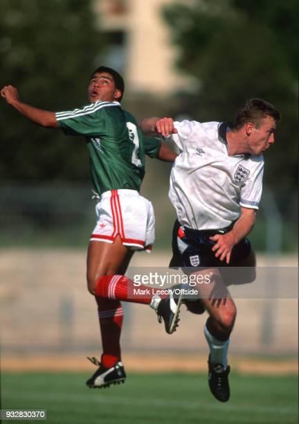 Toulon Espoirs Under21 International Football Tournament England v Mexico Alan Shearer of England and Hector Enriquez of Mexico