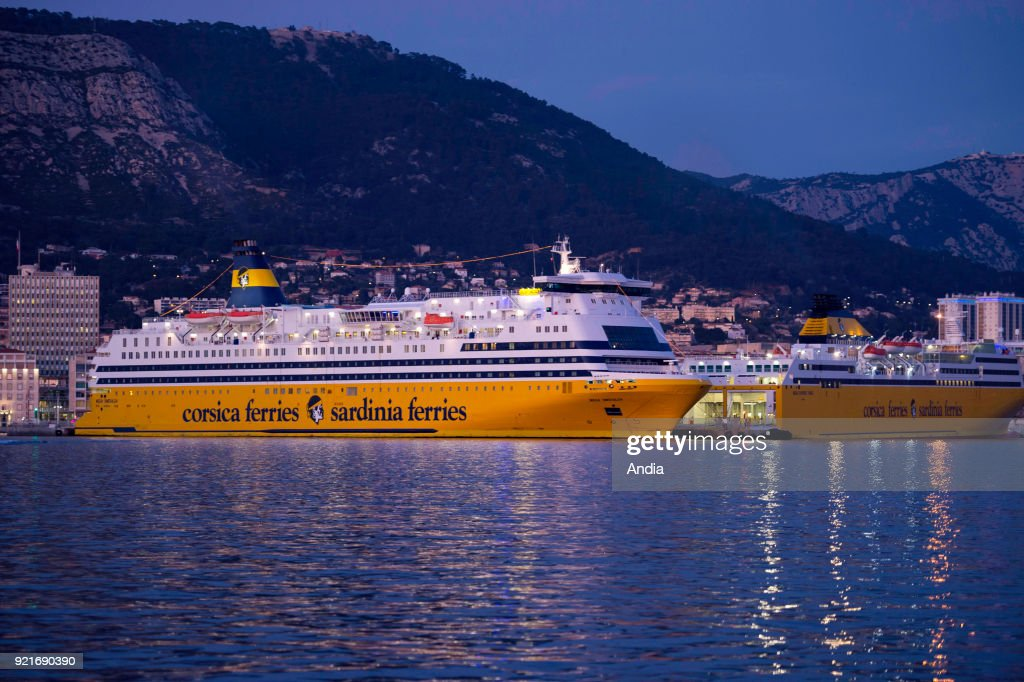 Ferryboat of the shipping company Corsica Ferries. : News Photo
