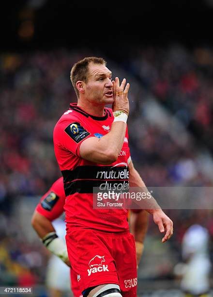 Toulon player Ali Williams in action during the European Rugby Champions Cup Final between ASM Clermont Auvergne and RC Toulon at Twickenham Stadium...