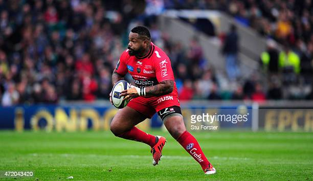 Toulon player Mathieu Bastareaud in action during the European Rugby Champions Cup Final between ASM Clermont Auvergne and RC Toulon at Twickenham...