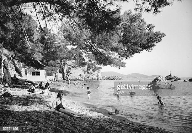 Toulon The beach Magaud by 1930 CAP 125A