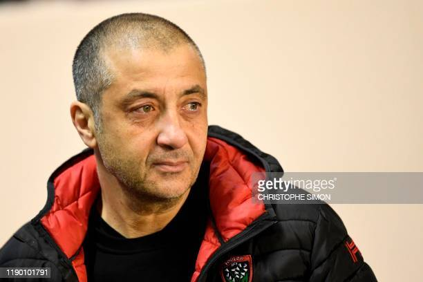 Toulon's French presdient Mourad Boudjellal cries as he attends his last match during the French Top 14 rugby union match between RC Toulonnais and...