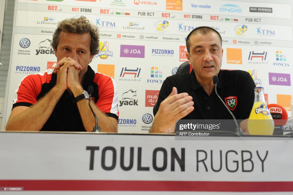 RUGBY-FRA-TOP14-TOULON-TRAINING : News Photo