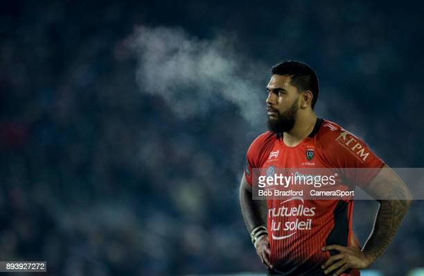 Toulon's Romain Taofifenua during the European Rugby Champions Cup match between Bath Rugby and RC Toulon at Recreation Ground on December 16 2017 in...
