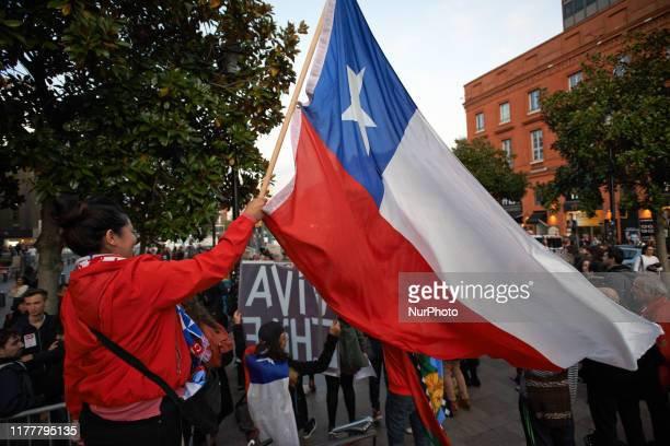 Toulouse' Chileans gathered in support of Chile's protesters who demand a new economic model for Chile a constituent assembly and the resignation of...