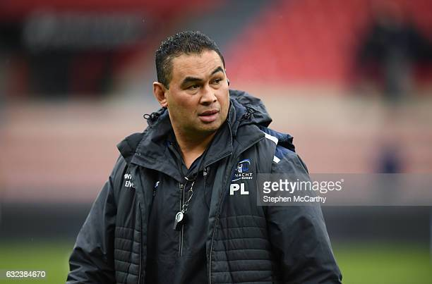 Toulouse France 22 January 2017 Connacht head coach Pat Lam prior to the European Rugby Champions Cup Pool 2 Round 6 match between Toulouse and...