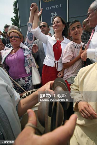 """Former socialist candidate Segolene Royal visits """"la Reynerie"""", with Toulouse's 6th constituency socialist candidate Monique Iborra and president of..."""